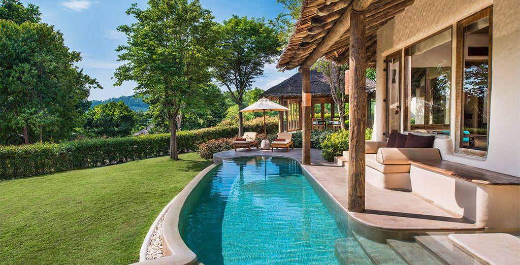 Posez vos valises en Villa Tropical Pool