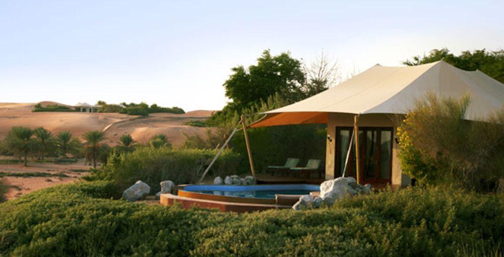 L'extérieur de la suite Bedouin - Al Maha Desert Resort & Spa ***** Dubai
