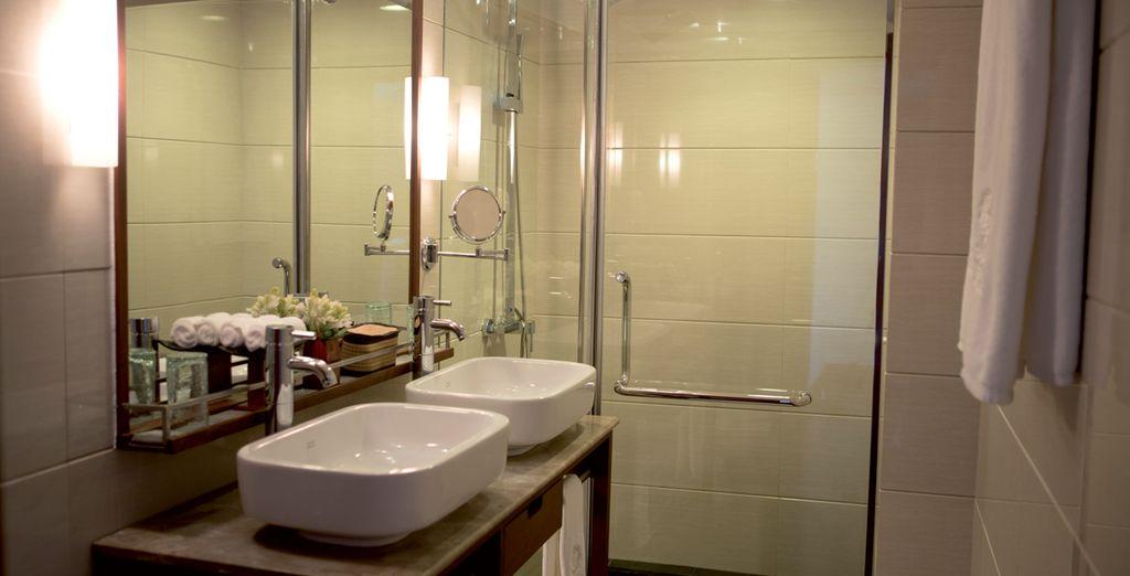 Confortable jusque dans la salle de bains....