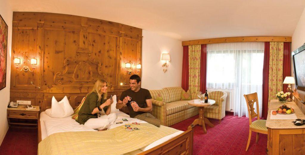 Installez-vous en chambre Saint George à l'hôtel Alpes & Spa Schwarzbrunn 4*