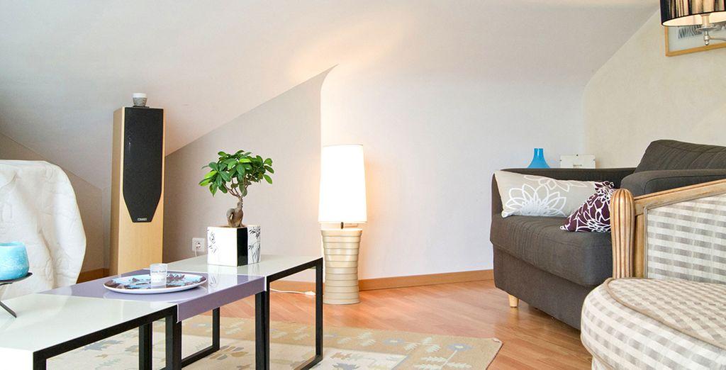 La mezzanine moderne et tout confort