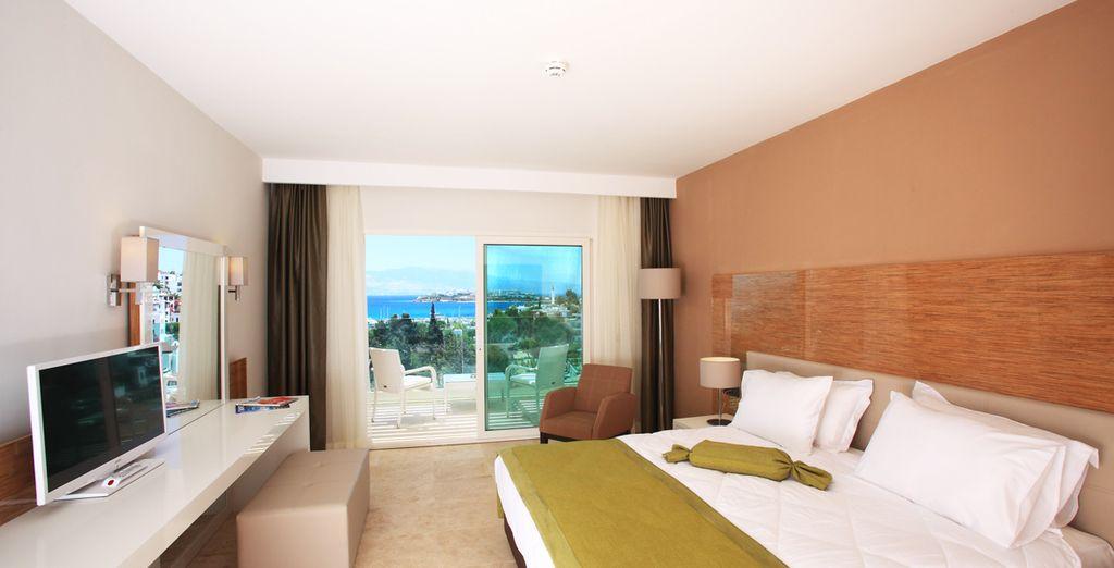 Des chambres spacieuses et confortablement équipées