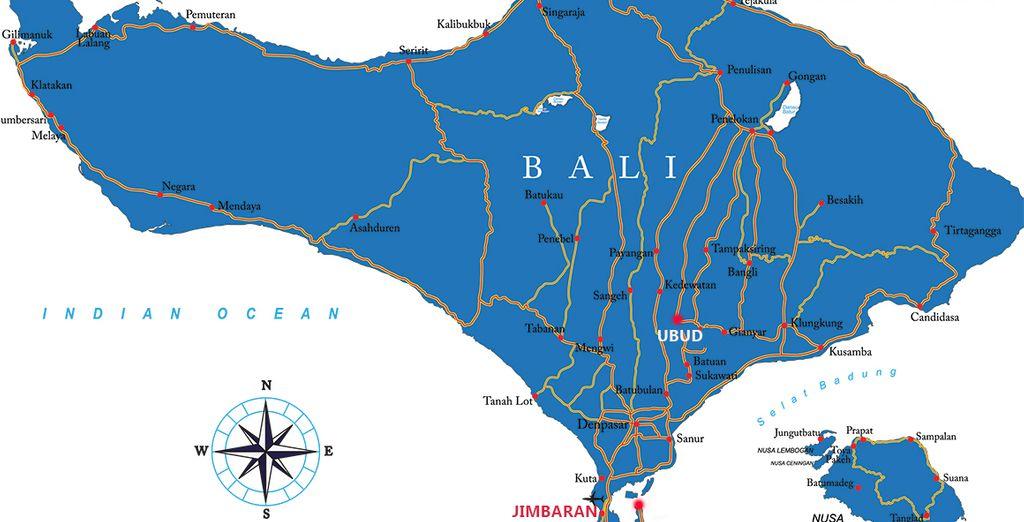 Depuis Ubud jusqu'à Jimbaran, imprégnez-vous des beautés de Bali