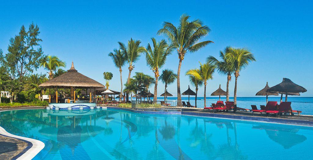 Une fois sur l'île Maurice, vous verrez la vie en bleu dans votre 4*