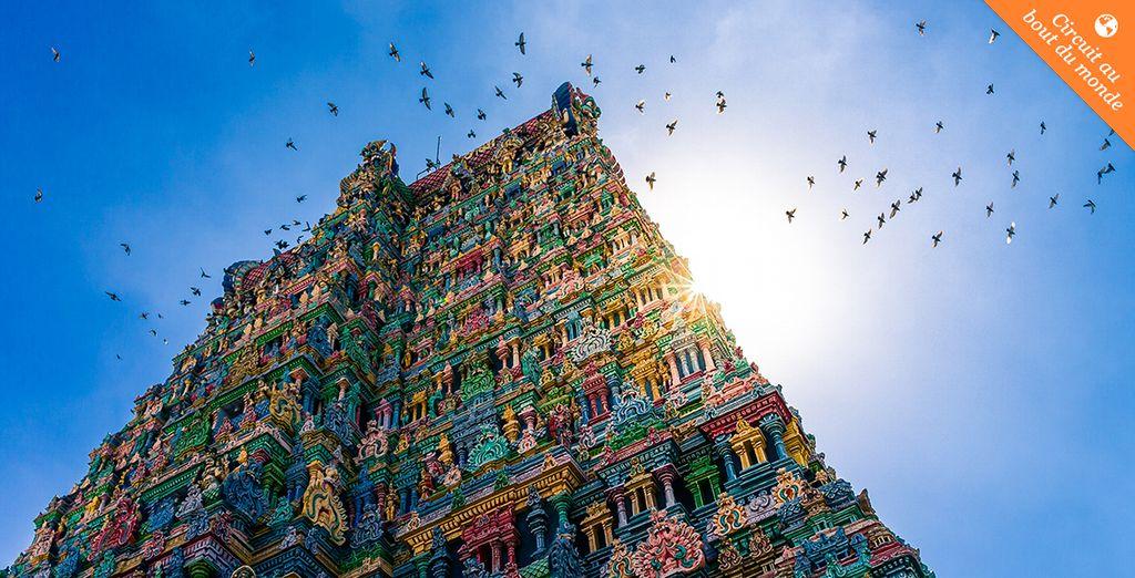 Depuis le temple Hindou de Meenakshi