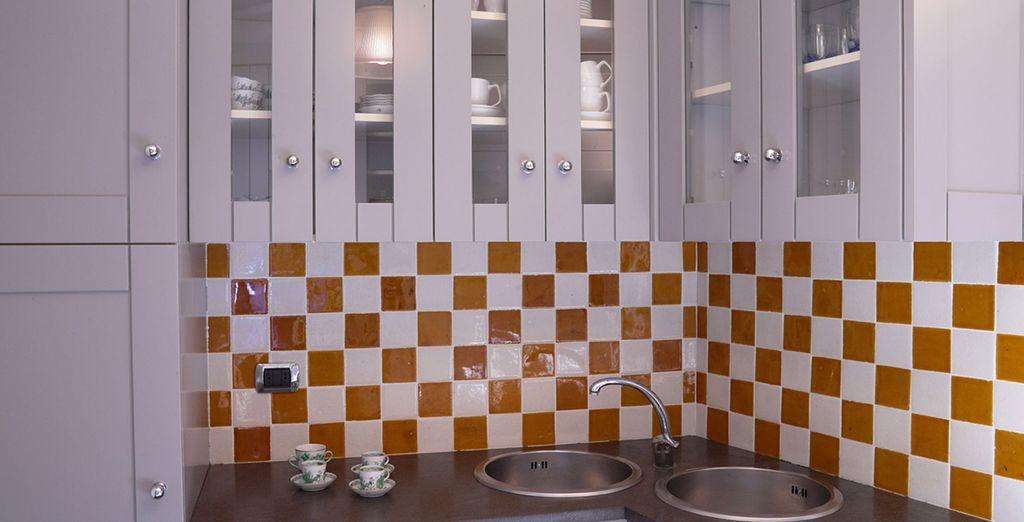 Votre cuisine colorée et équipée