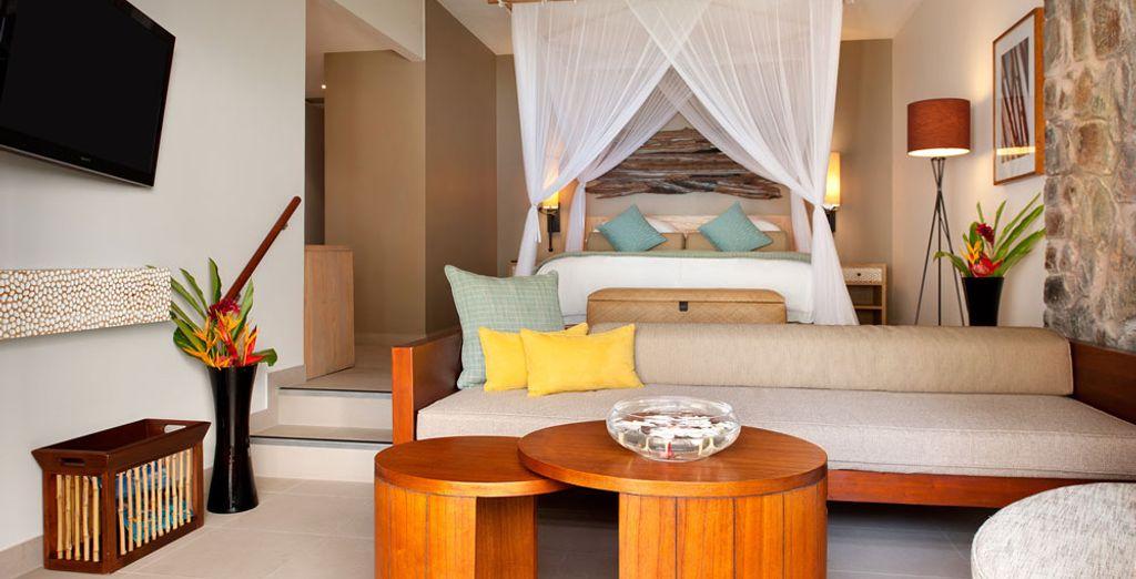 Hôtel haut de gamme avec chambre double tout confort