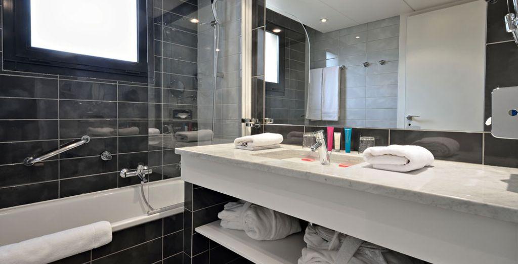Ainsi que le raffinement des salles de bain