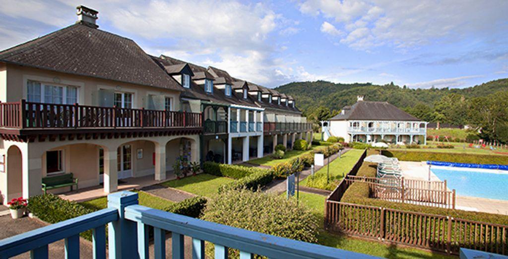 Et un balcon avec vue sur le parc