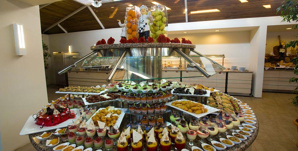 Et savourer les spécialités turques proposées au restaurant sous forme de buffet