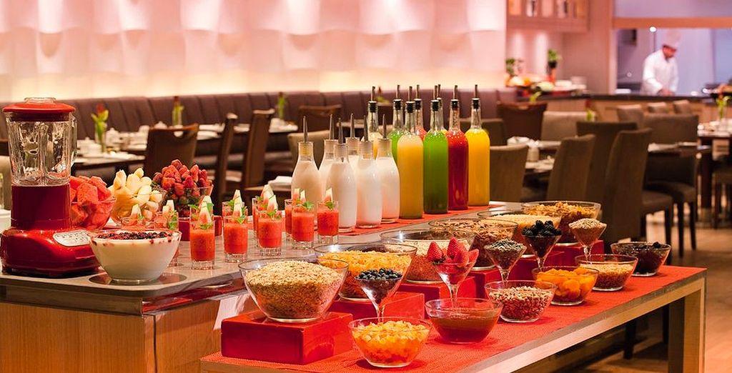 Inizierete la giornata con abbondanti prime colazioni a buffet