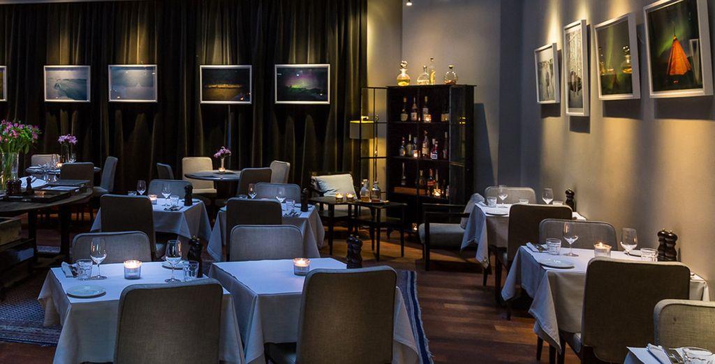 Potrete scegliere di cenare in uno degli spazi esclusivi dell'hotel