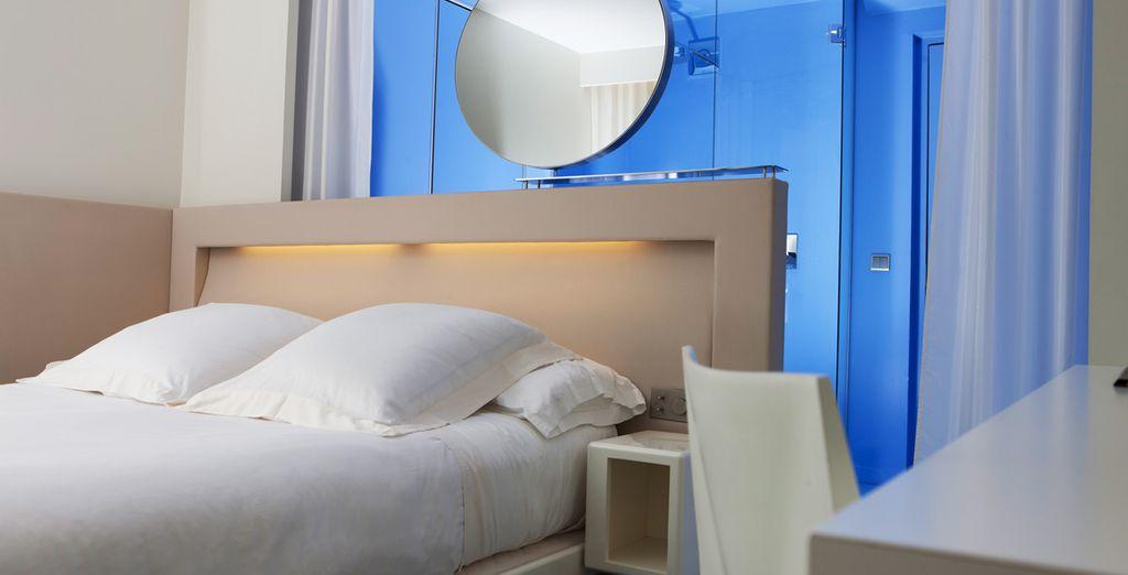 Come sistemazione potete scegliere una camera Standard, elegante e luminosa,