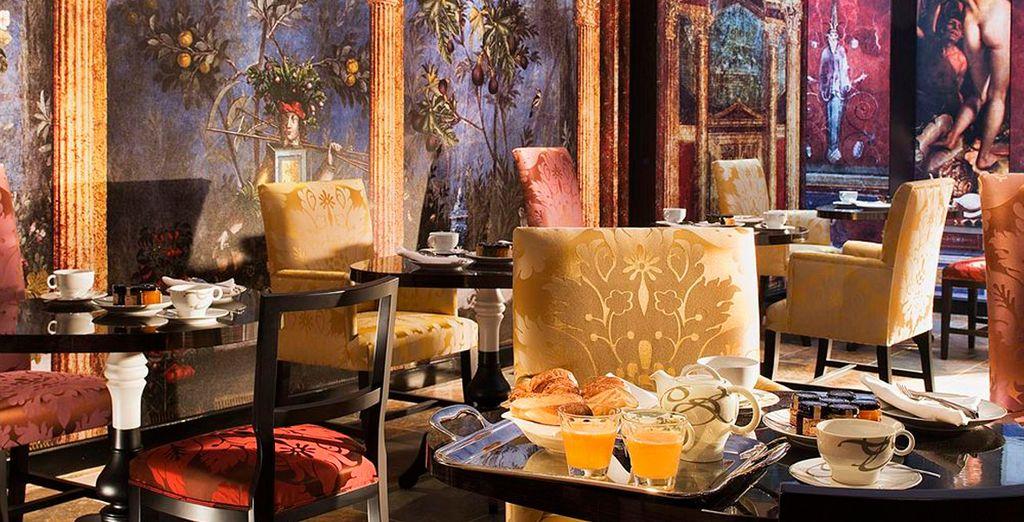 Potrete gustare una ricca colazione al bar Le Butterfly