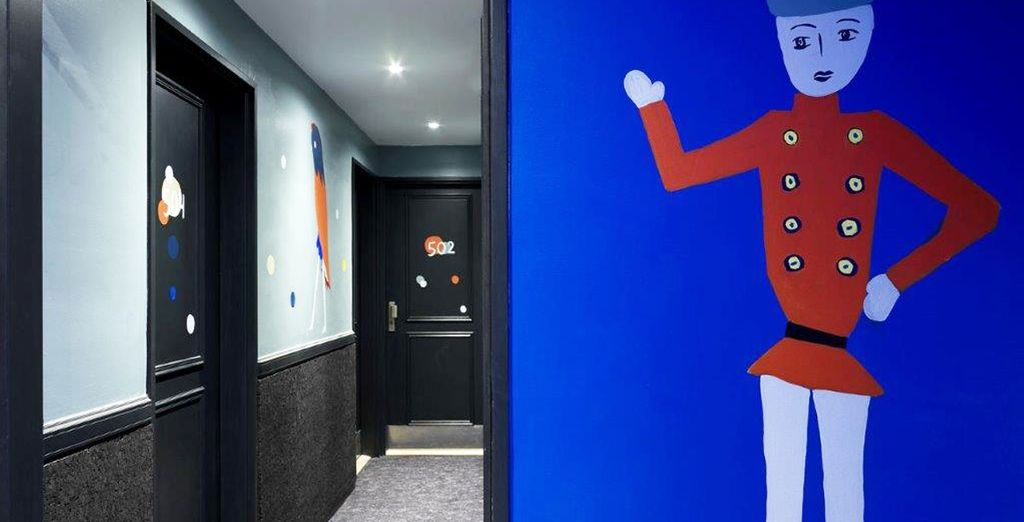 L'hotel è stato completamente rinnovato da un collettivo di artisti