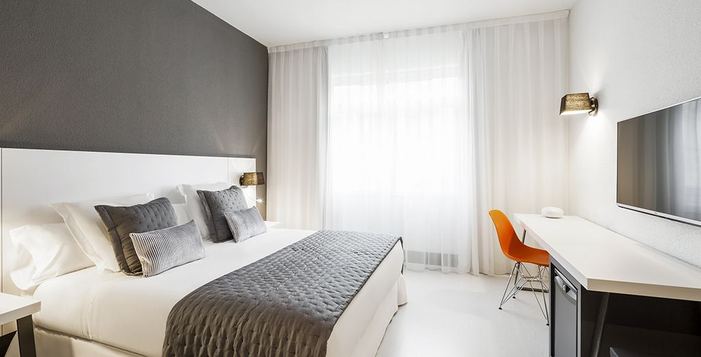 Soggiornerete in splendide camere dove potrete riposare in pace prima di partite alla scoperta della città