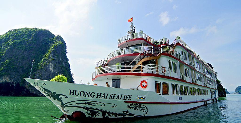 L'Huong Hai Sealife Cruise vi regalerà una crociera all'insegna del lusso e del comfort