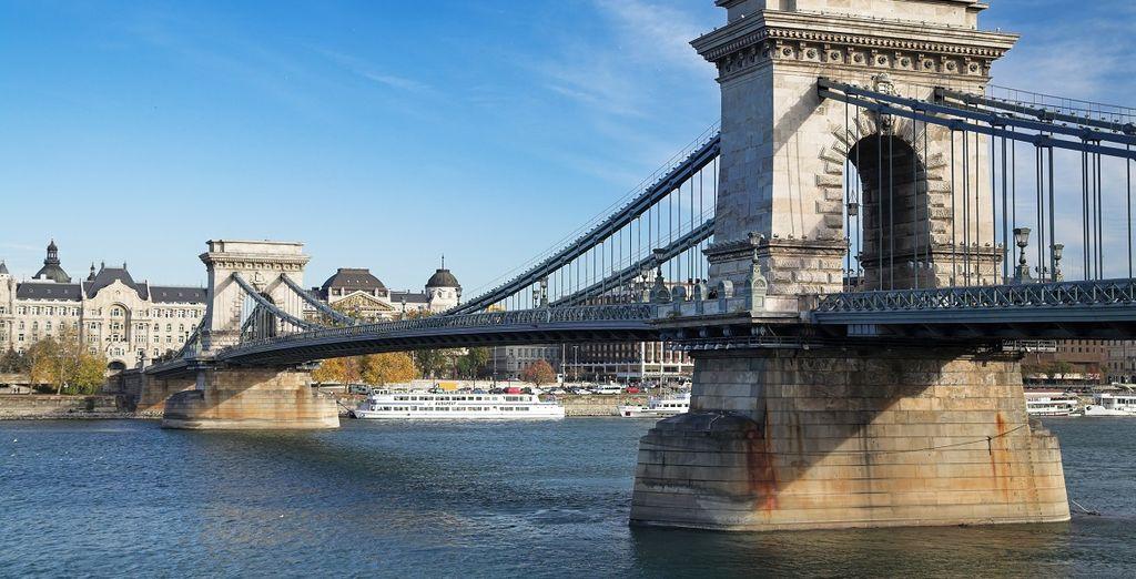 Fotografia del Ponte delle Catene a Budapest