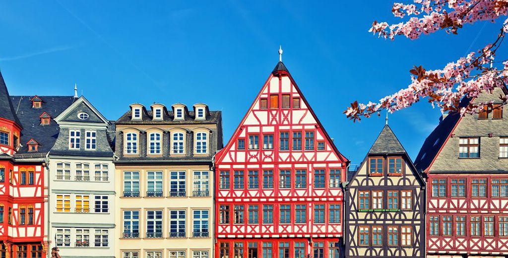 Architettura tradizionale di Francoforte in Germania