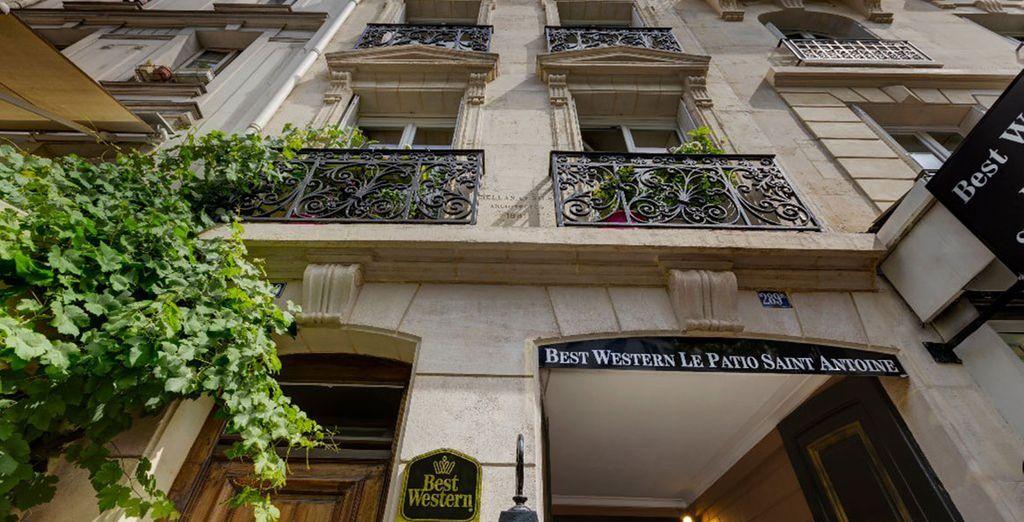 L'elegante Best Western Le Patio Saint Antoine vi aspetta per il vostro soggiorno parigino