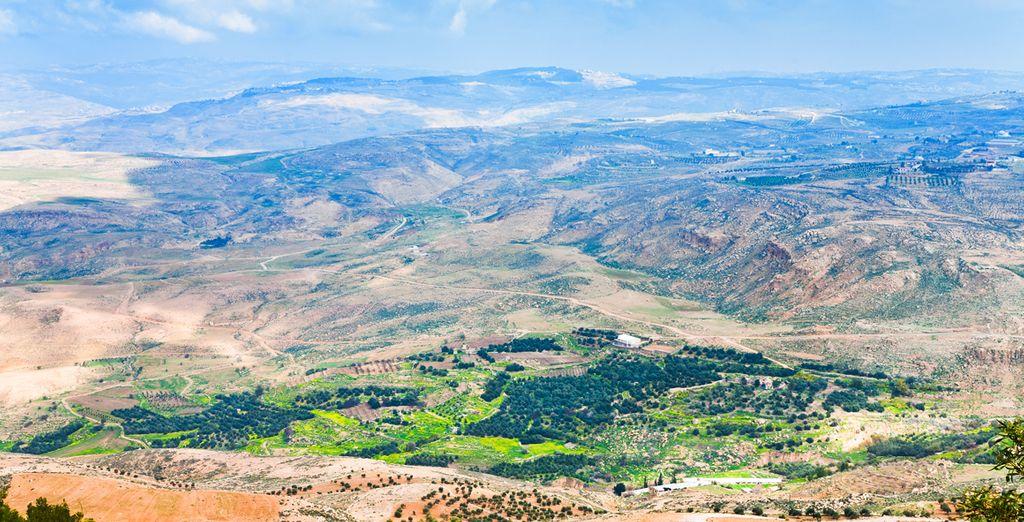 Fotografia del Monte Nebo in Giordania