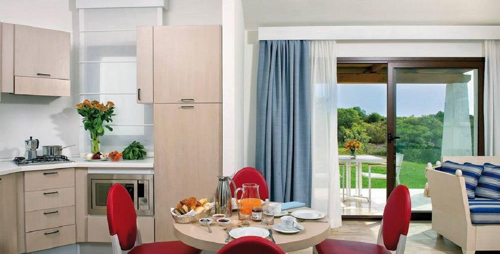 con ampia cucina e soggiorno