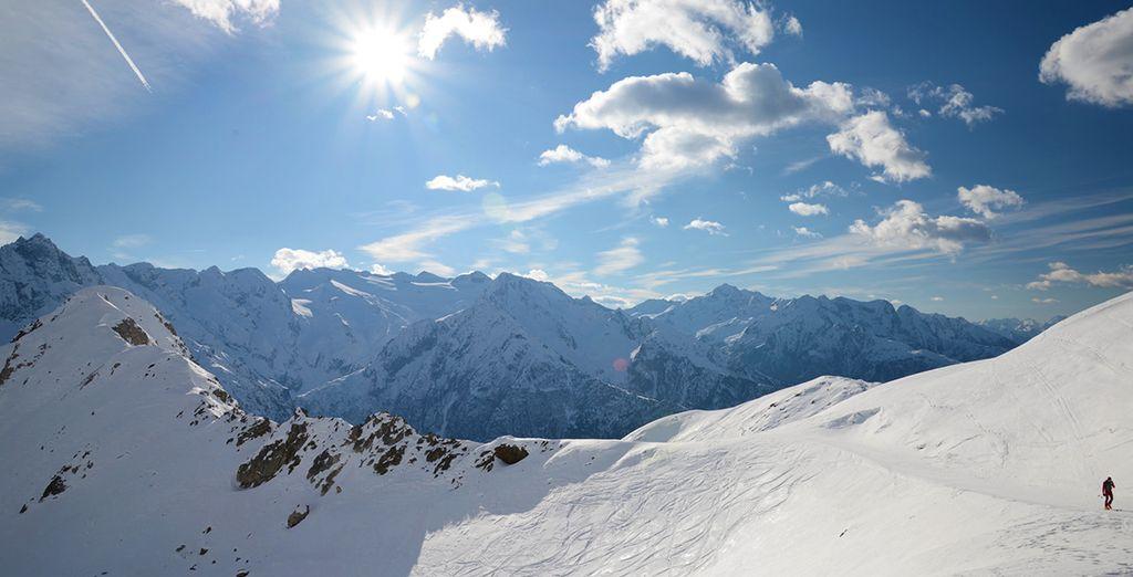 Paesaggio innevato delle Alpi italiane