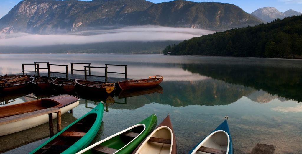 Ammirate la bellezza del lago di Bohinj