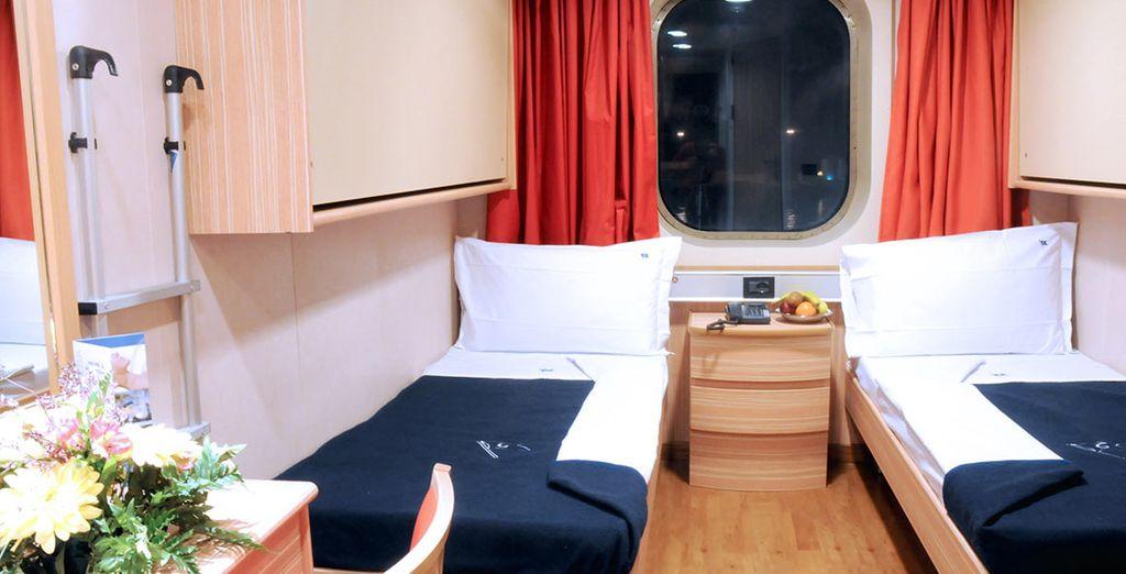 .E una comoda cabina per riposarvi