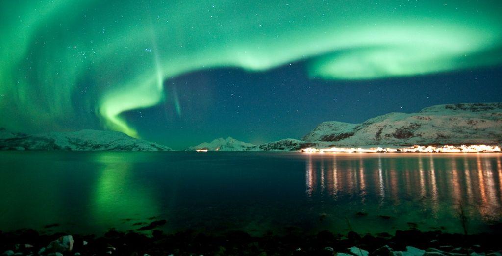 e partirete per un'avventurosa caccia all'aurora boreale
