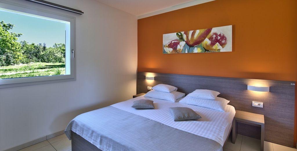 Dove soggiornerete in un confortevole appartamento bilocale con vista mare