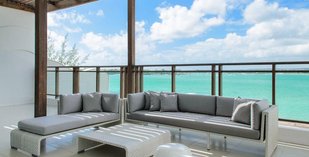 La terrazza della Junior Suite Sea View