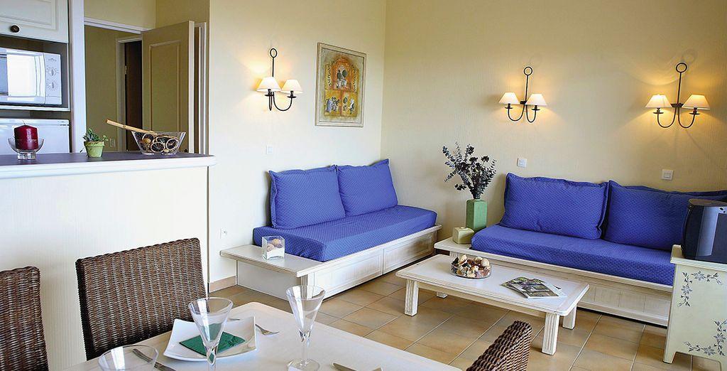 Soggiornerete in confortevoli appartamenti