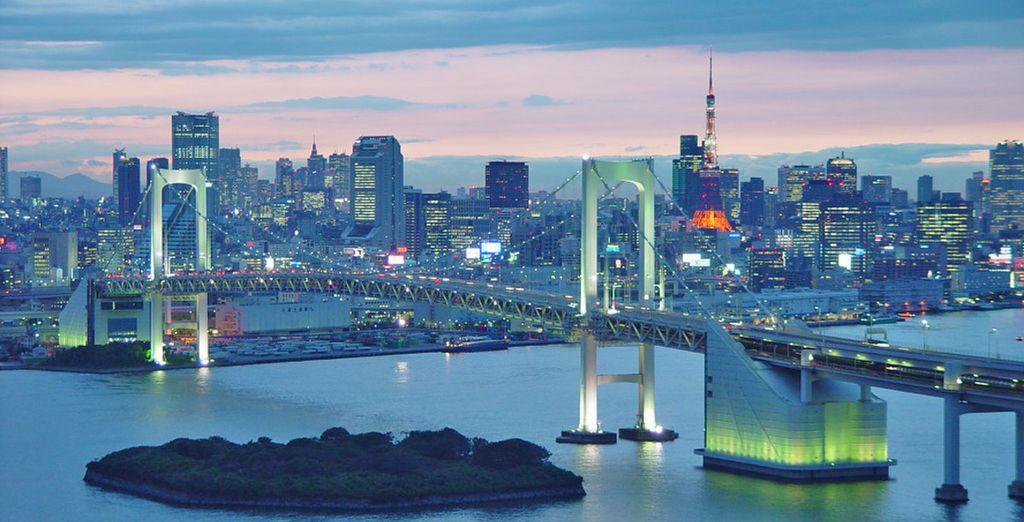Fotografia della città di Tokyo e dei suoi grattacieli