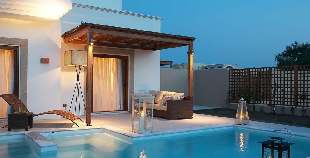 Camera da letto e piscina