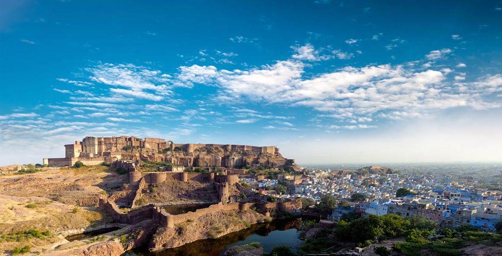 Fotografia della città di Delhi e dei suoi monumenti storici