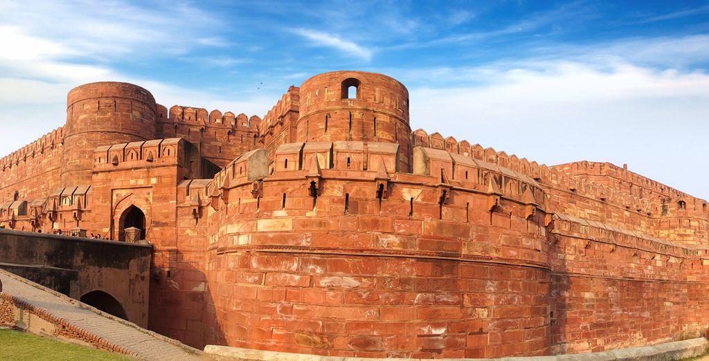 Fotografia di Fort Rosso di Agra in India