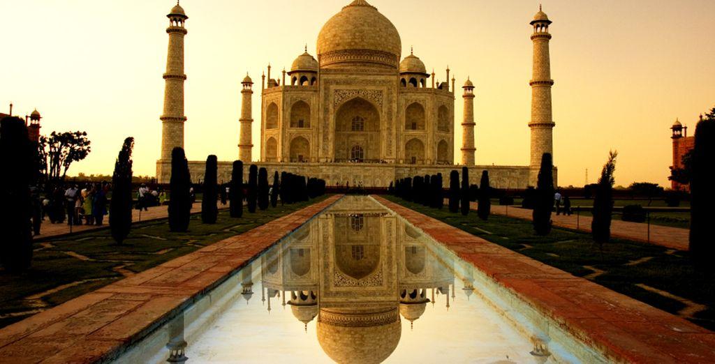 Fotografia del Taj Mahal ad Agra, simbolo dell'India