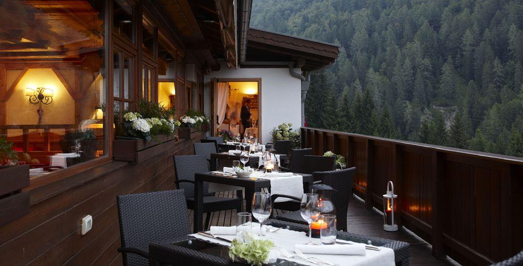 L'hotel è il luogo ideale per un'esperienza gastronomica di grande qualità