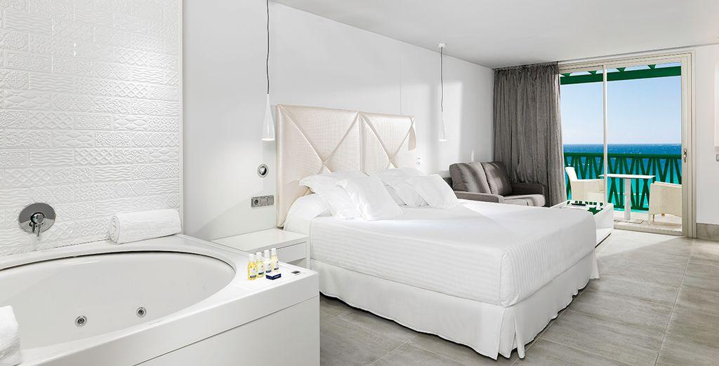 Soggiornerete in camera deluxe con vasca idromassaggio