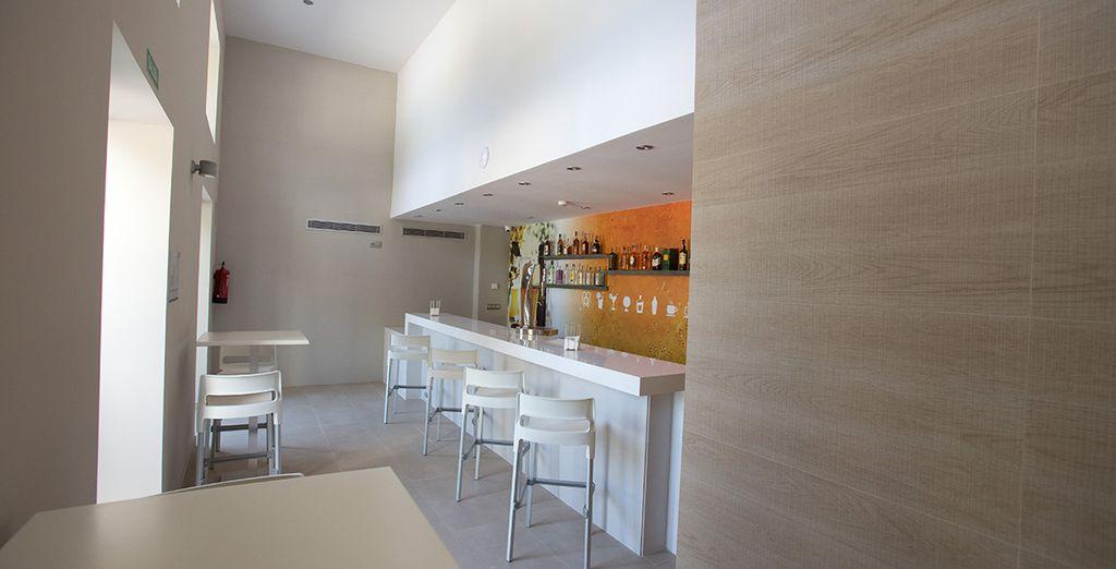 potrete accomodarvi allo snack bar durante i vostri momenti di relax