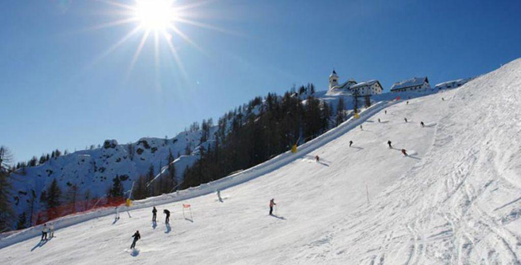 Le piste da sci sono a pochi passi dall'hotel
