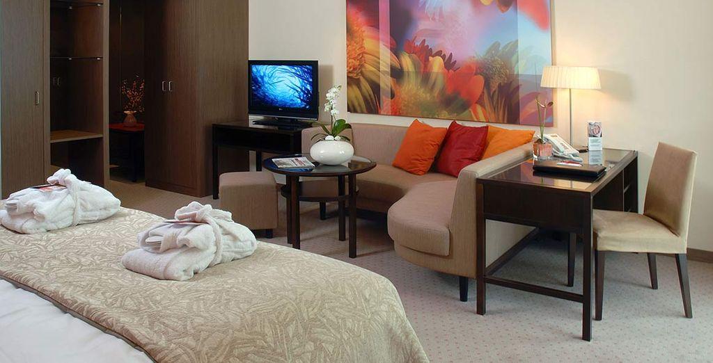 La vostra confortevole camera sarà il vostro rifugio di comfort e relax