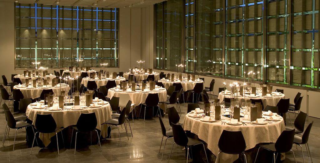 Preparatevi per cenare in grande stile presso il ristorante dell'hotel