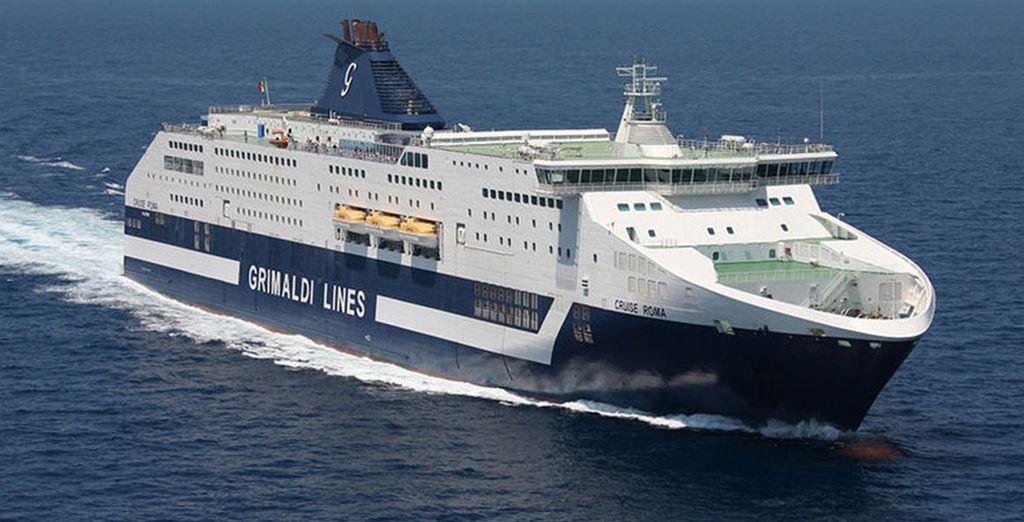 Scegliete la possibilità di utilizzare Grimaldi Lines per recarvi in Sardegna