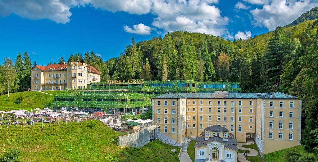 A Rimske Toplice vi dà il benvenuto l'Hotel Rimski Dvor 4*