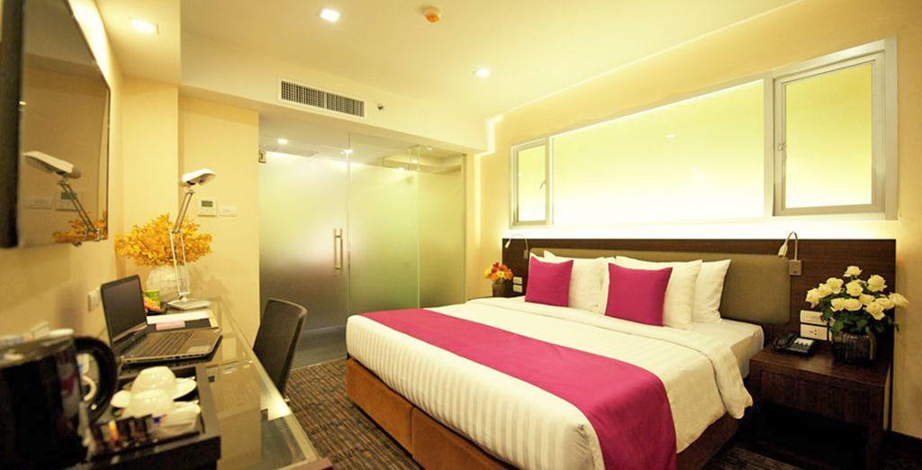 presso l'Hotel Royal Bangkok @Chinatown in esclusive camere Deluxe.