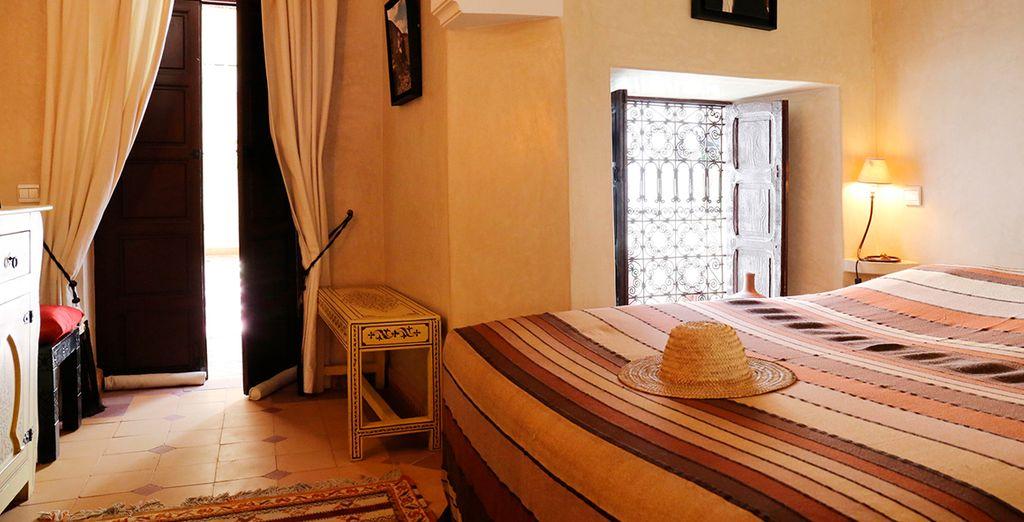 Soggiornerete in confortevoli camere tutte differenti tra loro: la camera Etoile