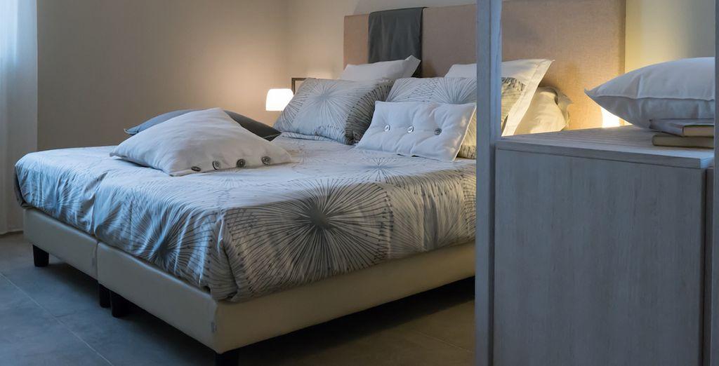 Rilassatevi nella vostre camere ampie e finemente arredate