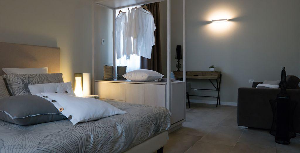 Abbiamo scelto per voi le confortevoli camere Superior e le Suite Pool